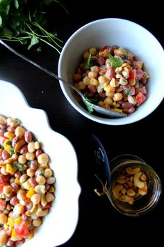 The taste of Myriam !: Beans salad & Tahini dressing | Salade de légumine...