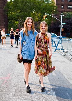 Tilda Lindstam & Amanda Norgaard (in) Model's Street Style  After Milly by Michelle Smith SS 2012, I spotted besties Tilda and Amanda strolling down the streets all smiles! <3  —  FollowBonae L'amouronfacebook twitter…