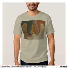 Cool Retro Abstract Graphic colorful #Matata strand T-Shirt #Amazing #beautiful #stuff #products #sold on #Zazzle #Achempong #online #store for #the #ultimate #shopping #experience