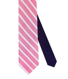 6c365709e235 Tommy Hilfiger Mens Sedgwick Stripe Tie Pink ONE SIZE #AU49 $65 OCFO NEW  Grown Man