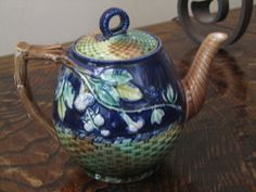 Antique Majolica Cobalt Blackberry and by MagnificentMajolica, $150.00