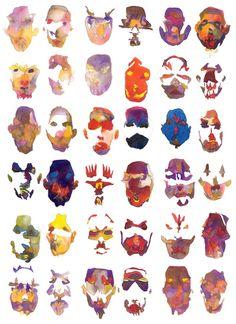 masquerade stretched canvas - matt lyon via Society6