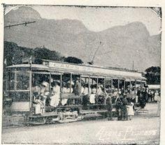 Camps Bay Tram 1902. Edwardian Era, Antique Maps, Old Buildings, Camps, Cape Town, Homeland, Vintage Photos, South Africa, Paris Skyline