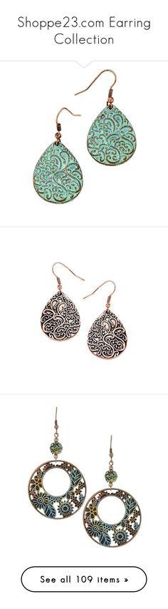 """Shoppe23.com Earring Collection"" by shoppe23 ❤ liked on Polyvore featuring jewelry, earrings, tear drop earrings, teardrop earrings, teardrop shaped earrings, bohemian jewellery, long earrings, copper earrings, bohemian jewelry and bohemian style jewelry"