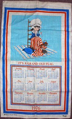 Moppet Fran Mar tea towel 1976 Bicentennial by GlazyDaysandNights,
