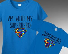 Autism Awareness - Superhero T-Shirt Tshirt Tee T Shirt  FAST SHIPPING TO THE U.S.  All t-shirts are printed on 100% Cotton (Preshrunk) High Quality