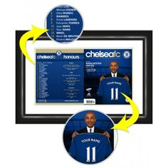 Chelsea Personalised Matchday Programme  Your name with Di Matteo as you Sign for Chelsea.    This is our flagship product and has received some fabulous reviews. We reproduce the official Chelsea Match Day Programme cover putting your name in the squad list and onto the shirt held by Roberto Di Matteo. Our photo manipulation experts merge your name onto the shirt held by Roberto Di Matteo. Framed and mounted in a stylish black contemporary frame.    Height: 540mm.  Width: 380mm. Chelsea Fans, Manchester, Contemporary Frames, Picture Gifts, Sports Gifts, Gifts For Boys, Photo Manipulation