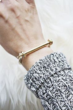 This the must have Miansai Cuff. Start your collection (and obsession) with this polished gold version.