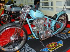 OldMotoDude: Triumph Chopper on display at the 2014 International Motorcycle Show -- Seattle