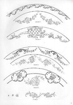 Alfred Henry Forrester [Alfred Crowquill] Five Designs for Decorated Plates The Metropolitan Museum of Art (Erdinç Bakla archive) (Erdinç Bakla archive) Hand Painted Porcelain, Decorative Painting Patterns, Floral Painting, Vintage Art, Porcelain Painting, Paint Designs, Painting Inspiration, Art, China Painting