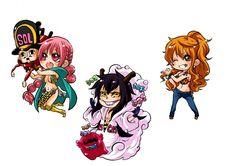 One Piece, Rebecca, Kyros, Caesar Clown, Nami