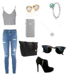 """""""Untitled #1"""" by ekmetz ❤ liked on Polyvore featuring Glamorous, MICHAEL Michael Kors, Michael Kors, Case-Mate, Tiffany & Co., Ray-Ban and Pandora"""
