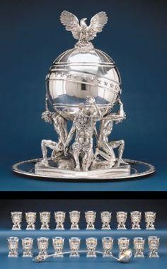 Silver Earrings Clip On Silver Centerpiece, Centerpieces, Antique Silver, 925 Silver, Sterling Silver, Vintage Silver, Art Nouveau, Mackintosh Design, Trophy Design