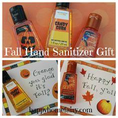 FREE Printable Fall Hand Sanitizer Gift