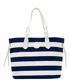 Dooney & Bourke Nylon Stripe Print Shopper Tote