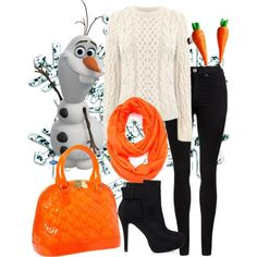 Disney inspired outfit  I am Olaf and I like warm hugs