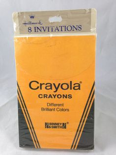 Vintage Hallmark Crayola Crayons Party Invitations, 8 cards and envelopes, Binney & Smith 1986 on Etsy, $20.00