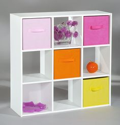 Alsapan Compo 3 x 3 Cube with White Melamine 91 x 91 x 29.5 cm & 9 cube childrenu0027s storage unit   Kids room make over   Pinterest ...