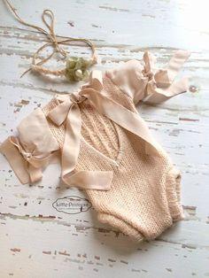 Newborn Long Sleeve Romper Lace baby girl by 4littleprincessstore