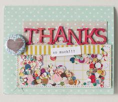 Thanks card. love the confetti
