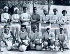 Somali women basketball team in 1970.