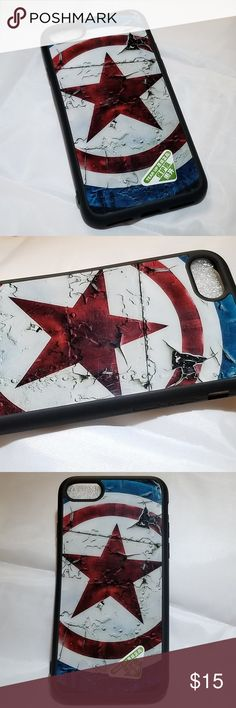 NWOT Captain America iPhone 7 Silicone Phone Case A stylish Captain America iPhone 7 silicone phone case that absorbs shock. It protects your phone from dings, dirt and scratches. The soft silicone case has a glossy back cover with high quality graphics.   Condition: New (Not Used)  *Same day shipping available* Accessories Phone Cases