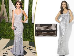 Selena Gomez's red carpet Oscar party dress is perf for prom. We found a look-alike! Selena Gomez Red Carpet, Red Carpet Party, Red Carpets, Oscar Party, Prom Looks, Prom Dresses, Formal Dresses, Celebrity Look, Virtual Closet