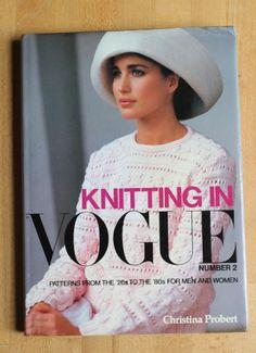 Andie MacDowell  -  Knitting in Vogue 1983