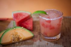 Watermelon Cantaloupe Margarita for Cinco de mayo #fiesta