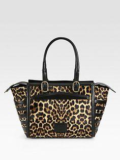 Christian Louboutin - Farida Leopard-Print Calf Hair Bowling Bag - Saks.com