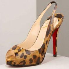 Christian Louboutin N. Prive fabric slingbacks Leopard : Christian Louboutin shoes, christian louboutin us
