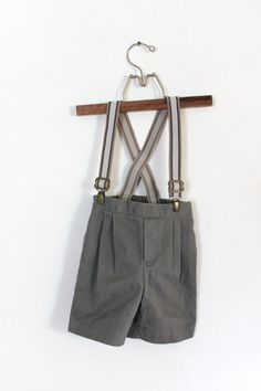 Vintage Baby Boy Shorts with Suspenders 24 by PeppermintandCocoa, $10.50