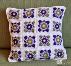Items similar to Granny square crochet cushion cover / on Etsy, Crochet Pillow Cases, Crochet Pillow Patterns Free, Crochet Cushion Cover, Crochet Cushions, Granny Square Crochet Pattern, Crochet Squares, Crochet Granny, Crochet Motif, Crochet Doilies