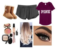 """""""Untitled #87"""" by tumblrsaved2 on Polyvore featuring RVCA, UGG Australia, MAC Cosmetics, Gucci, L'Oréal Paris, Too Faced Cosmetics and beautyblender"""