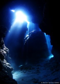 Underwater cave & great sunlight.