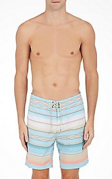 Serape-Striped Classic Board Shorts