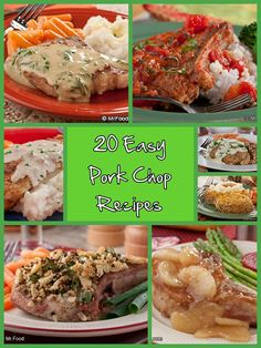 20 Easy Pork Chop Recipes - Make dinner a breeze by using one of our favorite types of meat... pork chops! #pork #chop #recipes