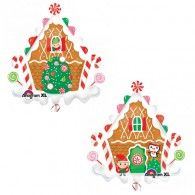 Gingerbread House Foil Balloon $22.95 (Inflated) U29398
