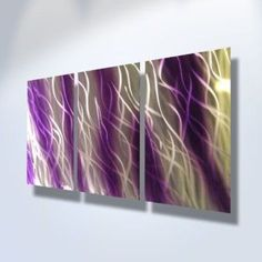 Metal Wall Art, Modern Home Decor, Abstract Artwork Sculpture- Purple Reef by Miles Shay  Consider using purple wall art if you want to make any room in your home look unique, trendy and modern.  In fact you can get all kinds of purple home décor ideas by finding a few pieces of charming and cool purple decorative accents.  Combine these with purple metal wall art to create a fun purple home decoration theme.
