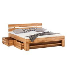 Massivholzbett EosWOOD - inklusive 4 Bettkästen - Kernbuche massiv - 180 x 200cm