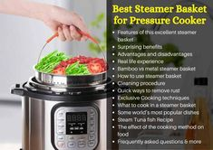 Best Steamer Basket for Pressure Cooker In 2021 With Buyer Guide – TopcellenT Pressure Cooker Reviews, Canning Pressure Cooker, Best Pressure Cooker Recipes, Pressure Cooking, Tuna Fish Recipes, Mac Cheese Recipes, Best Steamer, Steam Recipes, Cooking Oil