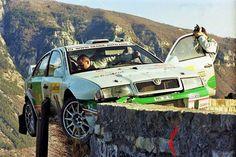 Monte Carlo 2002 Roman Kresta.  #wrc #wrcofficial #rally #rallye #skoda #octavia #crash #dope #motor #wheels #crazy #action by classic_rally