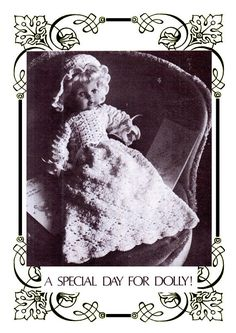 PDF Pretty Victorian Doll Clothes Crochet Pattern Christening