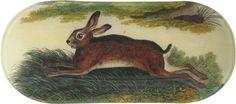 oblong tray, hare
