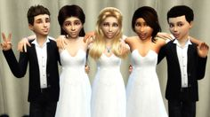 Sims 4 CC's - The Best: Friendship Children Group Poses by Romerjon17