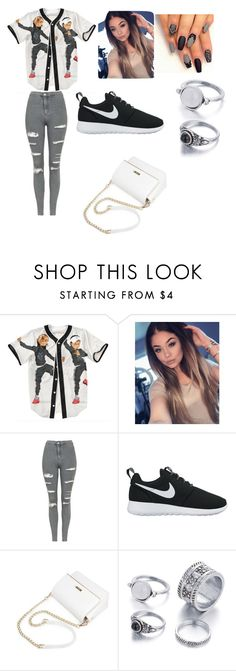 """my day"" by denisejoneswwe ❤ liked on Polyvore featuring Topshop and NIKE"