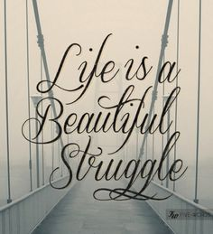 'life is a beautiful struggle'
