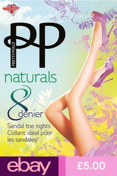 4f3ddc76c Extra Off Coupon So Cheap Pretty Polly Naturals 8 Denier Sheer Sandal toe  Tights (not open toe) S-XL