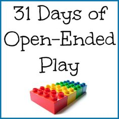 31 Days of Open-Ended Play for Kids: a series sharing the what, the why, and the how of open-ended play for children. #preschool #play #ece #kids #homeschool