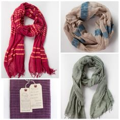 Some of our fave gifts: @Katie Miller  scarves that help women in Ethiopia create better lives. On sale this week!